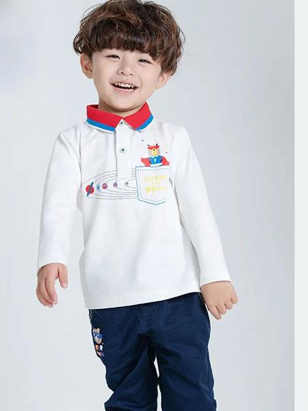 力果童装品牌2020春夏新款新款幻彩小熊系列气质衬衫