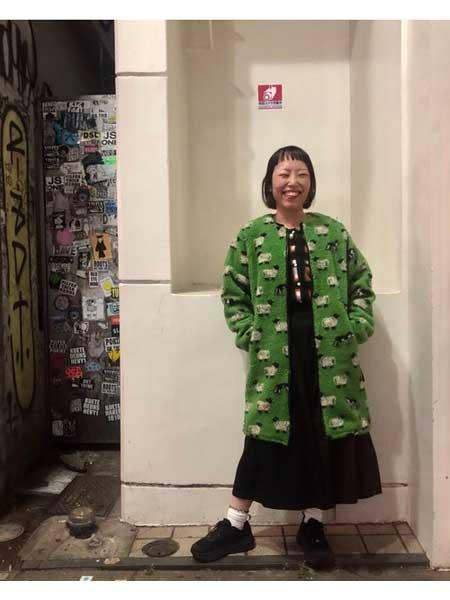 Grandma mama daughter国际品牌品牌2020秋冬知性长款针织外套