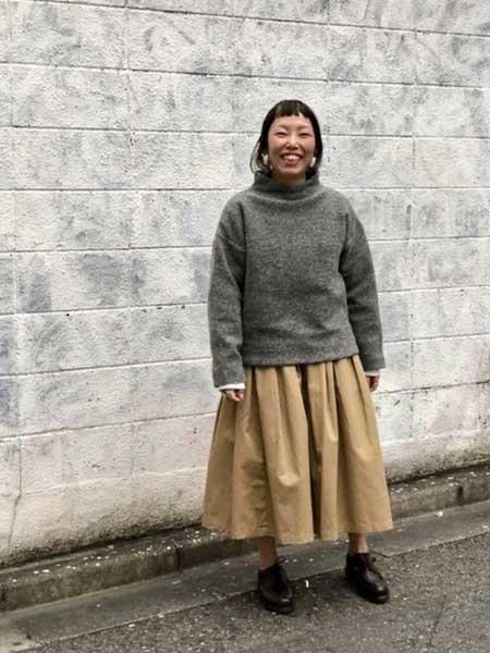 Grandma mama daughter国际品牌品牌2020秋冬宽松针织毛衣