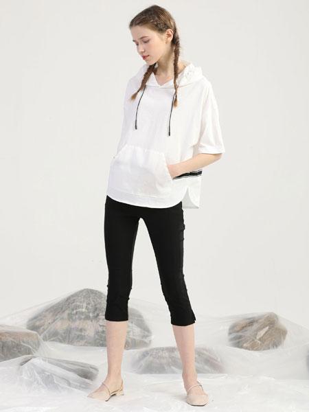 爱依莲女装品牌2020春夏新款纯色简洁气质上衣