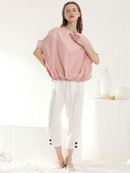 ai依莲女装品牌2020春�nan�kuanchun色简洁气质duan袖上衣