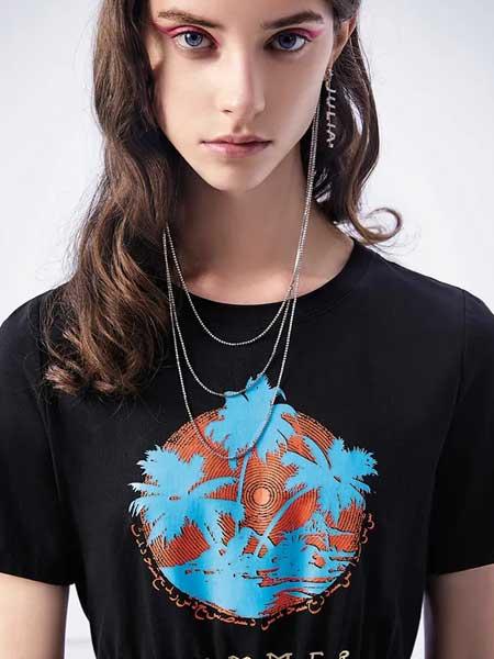 卡尼欧女装品牌2020春夏印花纯棉T恤