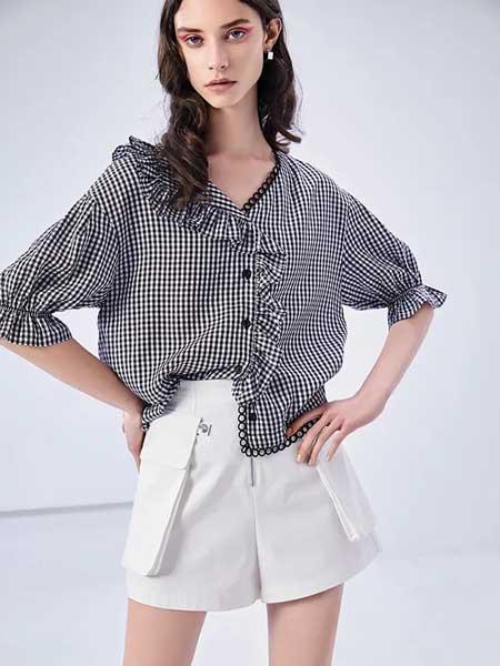 卡尼欧女装品牌2020春夏简约格子衬衣