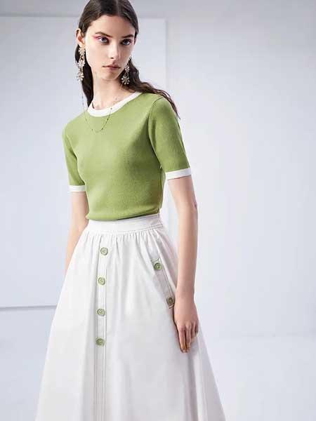 卡尼欧女装品牌2020春夏修身短款针织短袖