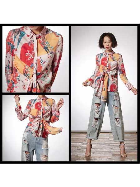 禾文阿思/印巴文化女装品牌2020春夏复古气质衬衫