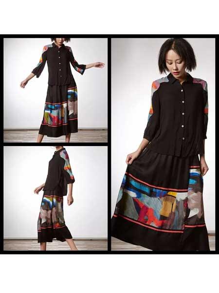 禾文阿思/印巴文化女装品牌2020春夏知性女性套装裙