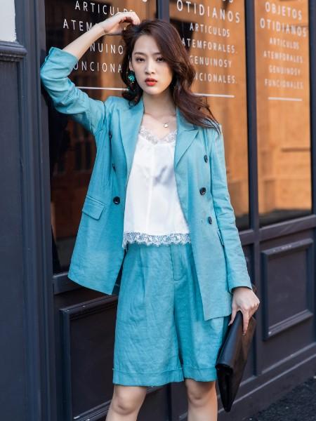 蒂言女装品牌2020春夏新款印花气质连衣裙