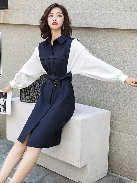 戴西街女装品牌2020春夏淑女减龄连衣裙