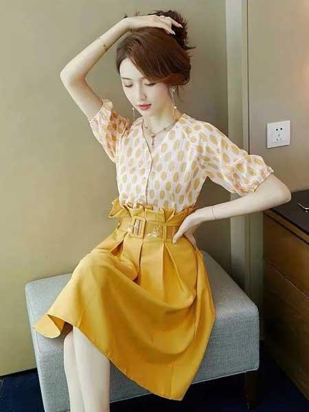 戴西街女装品牌2020春夏减龄时尚套装裙