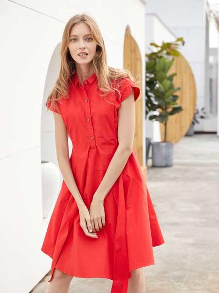 衣艾女装品牌2020春夏收腰宽松连衣裙