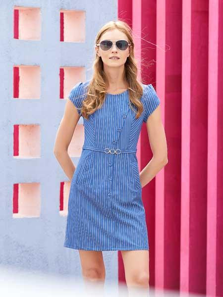 衣艾女装品牌2020春夏时尚棉麻连衣裙