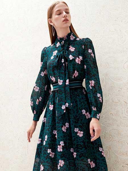 红贝缇女装品牌2020春夏复古气质女神连衣裙