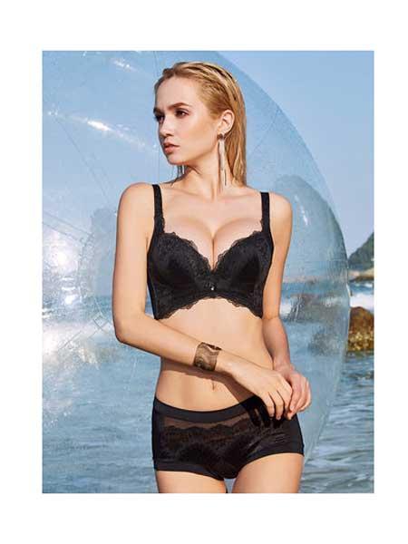 依之妮内衣品牌2020春夏内衣上薄下厚无钢圈3排扣小胸透气舒适聚拢女文胸