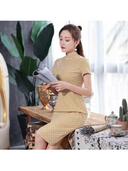 秀观唐女装品牌2020春夏轻款日常生活夏装中国风旗袍改良版连衣裙