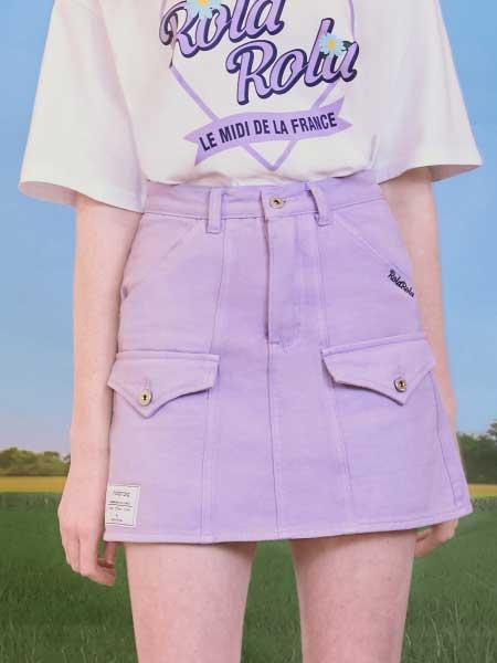 rolarola国际品牌品牌2020春夏温柔紫色半身裙