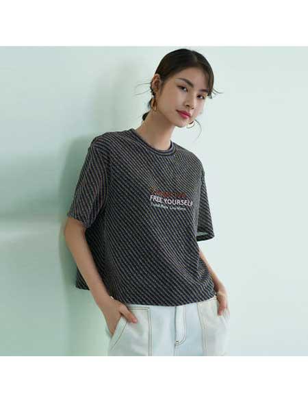 歌莉娅女装品牌2020春夏新品圆领针织衫