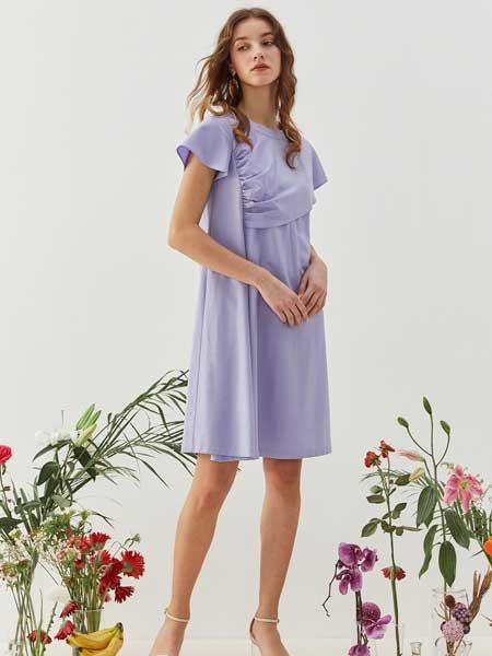 八月盛典女装品牌2020春夏纯棉棉麻连衣裙