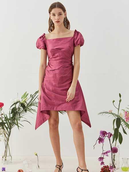 八月盛典女装品牌2020春夏棉麻连衣裙