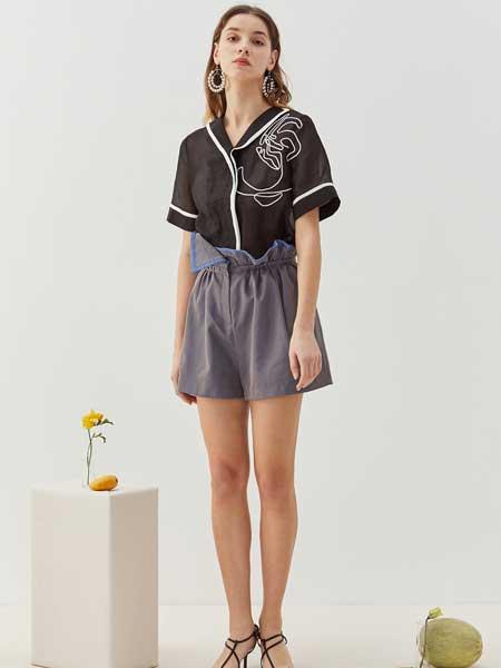 八月盛典女装品牌2020春夏舒适丝绸短袖