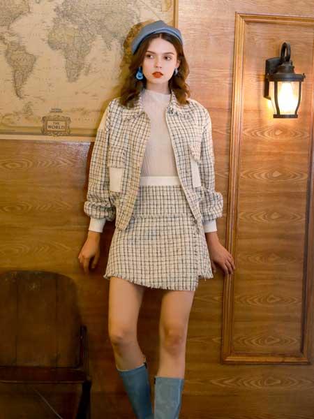 欧伊力女装品牌2020春夏小香风套装裙