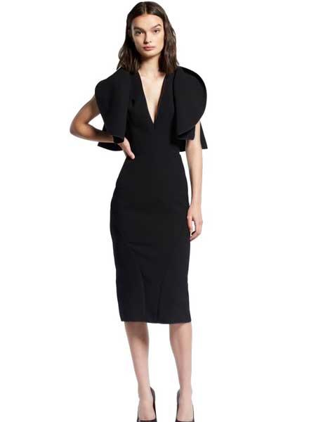MATICEVSKI国际品牌品牌2020春夏深v领性感连衣裙