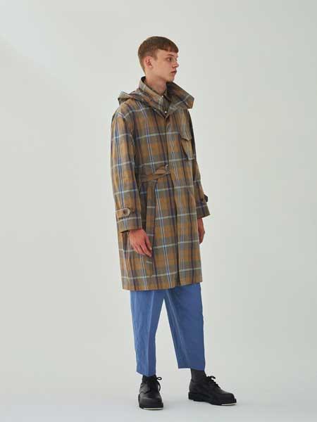 UNITUS国际品牌品牌2020春夏简约格子宽松外套