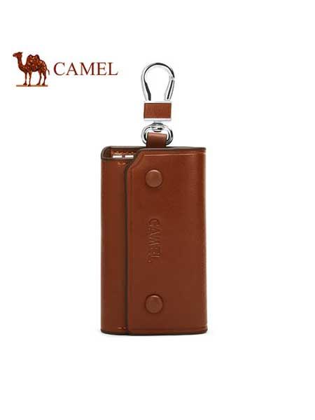 美国骆驼箱包品牌2020春夏男士钥匙扣包牛皮时尚休闲出差汽车锁匙包