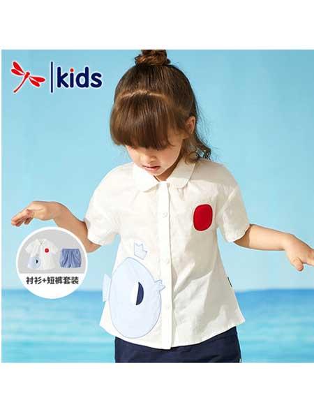 红蜻蜓童装品牌2020春夏纯棉短袖衬衫
