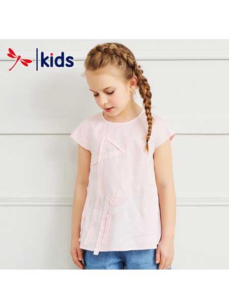 红蜻蜓童装品牌2020春夏纯色女童短袖