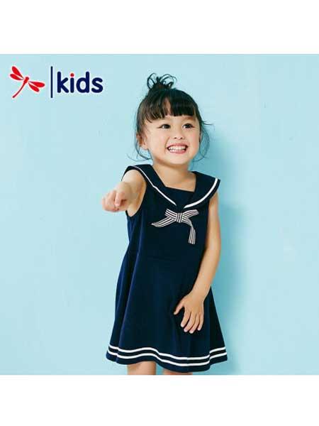 红蜻蜓童装品牌2020春夏水手服宝宝连衣裙