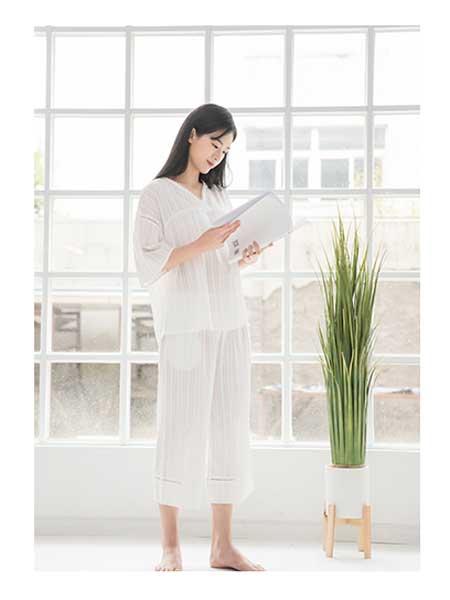 美季美优女装品牌2020春夏宽松棉麻睡衣套装