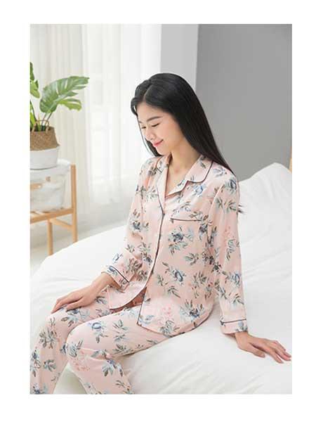 美季美优女装品牌2020春夏纯棉睡衣套装