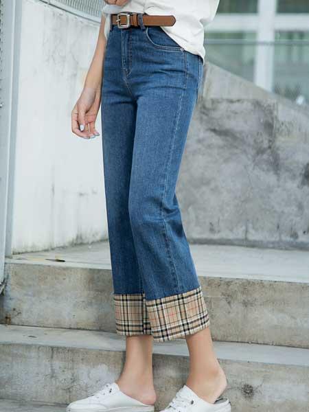 尚谷男装品牌2020春夏女性宽松显瘦牛仔裤