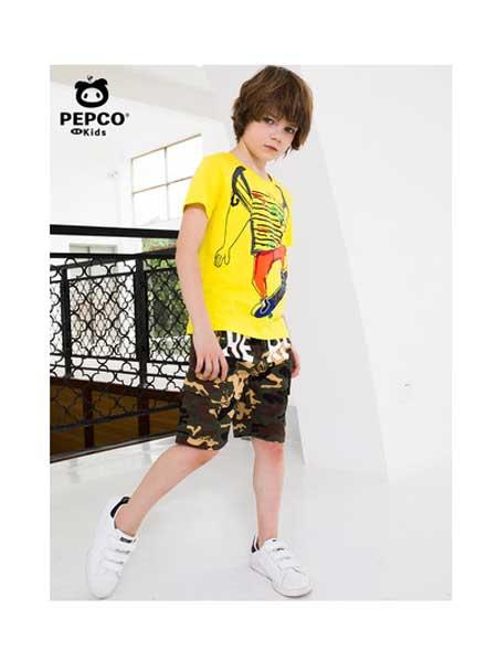 小猪班纳童装品牌2020春夏童装男童短袖t恤新款儿童圆领上衣中大童T恤