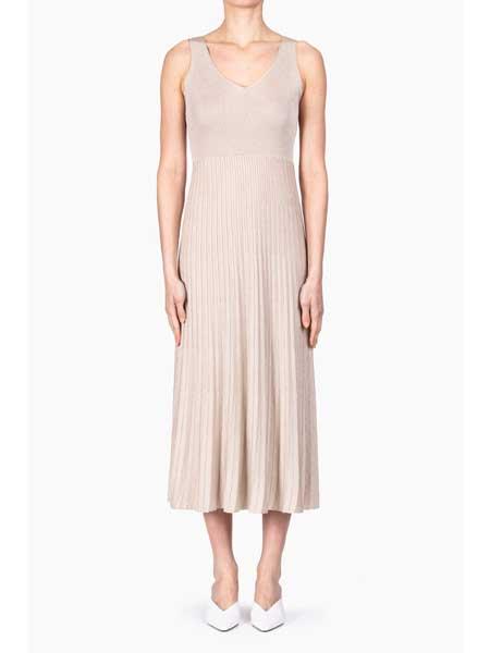 Roberto Collina国际品牌品牌2020春夏长款修身针织连衣裙