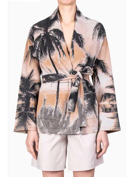 Roberto Collina国际品牌品牌2020春夏印花复古外套
