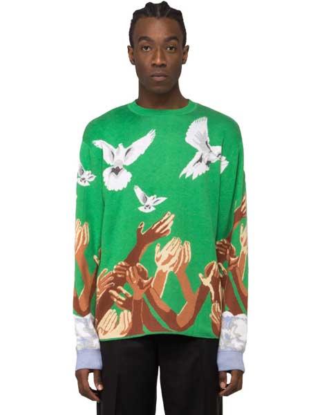 3.Paradis国际品牌2020春夏绿色针织衫