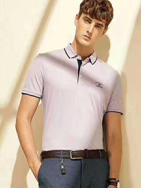 爱迪丹顿男装品牌2020春夏印花polo衫短袖