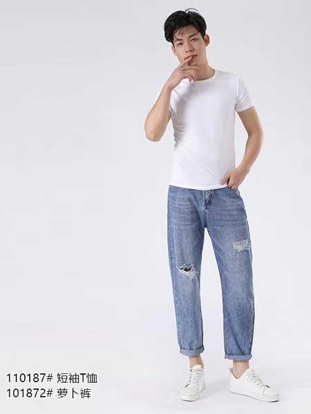 西都本色男装品牌2020春夏个性破洞裤牛仔裤