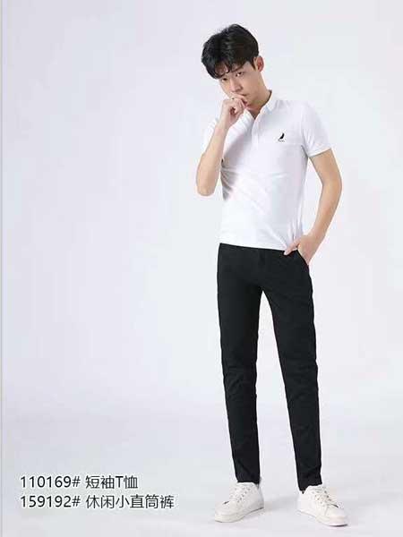 西都本色男装品牌2020春夏黑色直筒裤长裤