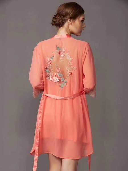 丹蓓姿内衣品牌2020春夏时尚丝绸睡袍