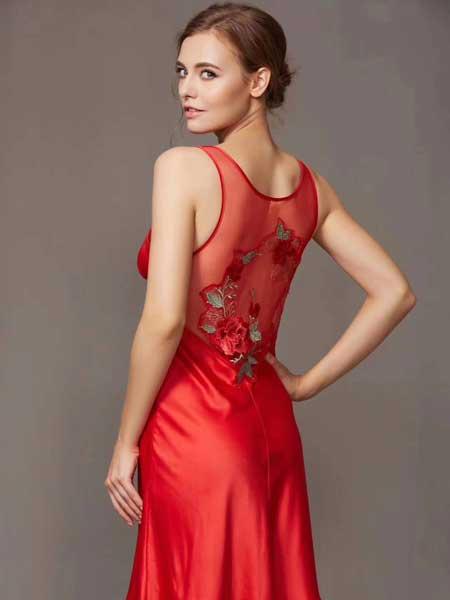 丹蓓姿内衣品牌2020春夏丝绸睡衣吊带裙