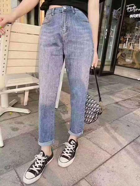 美酷思牛仔品牌2020春夏女生宽松显瘦牛仔裤