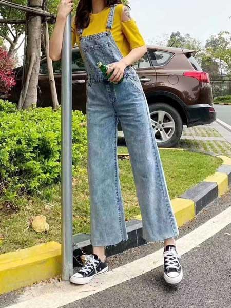 美酷思牛仔品牌2020春夏背带裤喇叭裤