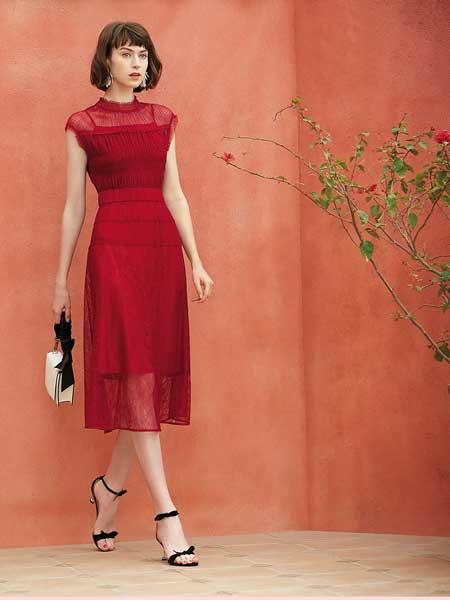 红凯贝尔女装品牌2020春夏复古知性连衣裙