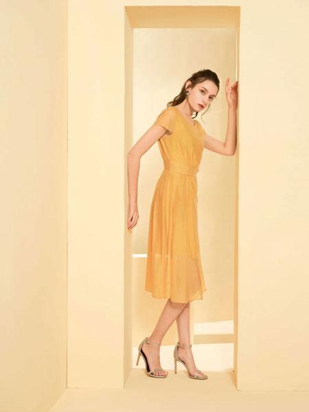 芝仪女装品牌2020春夏收腰棉麻连衣裙