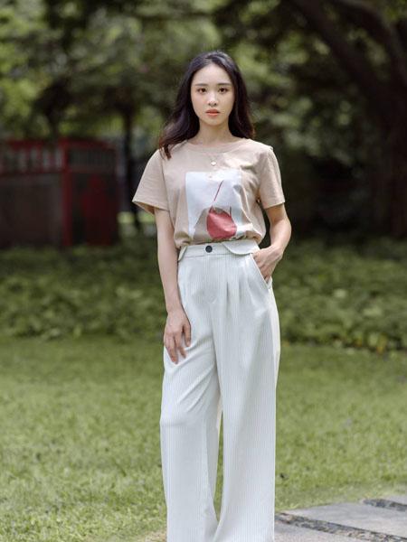 路尼裟女装品牌2020春夏白色长裤