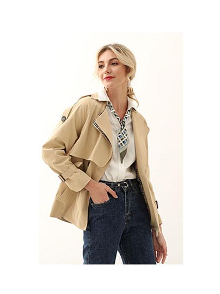 领卉女装品牌2020春夏时尚短款风衣