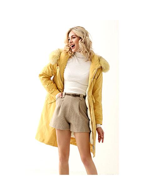领卉女装品牌2020春夏保暖棉袄