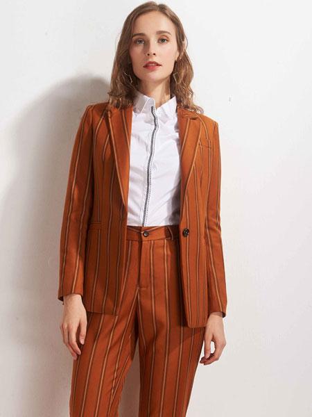 唯裁女装品牌2020春夏复古气质西装